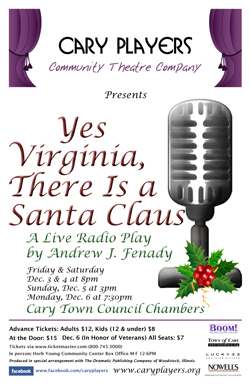 Yes virginia there is a santa claus shows cary players cary nc